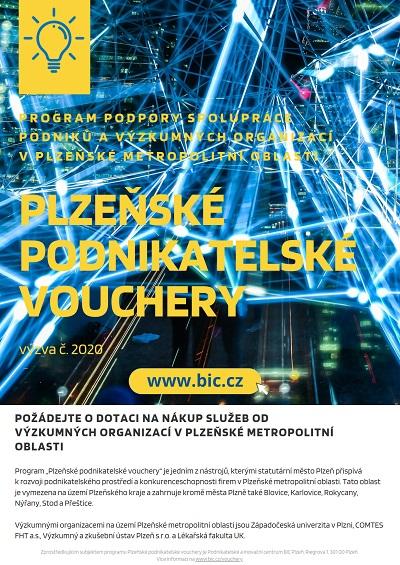 1 leták 2020 Plzeňské podnikatelské vouchery s odkazy 1