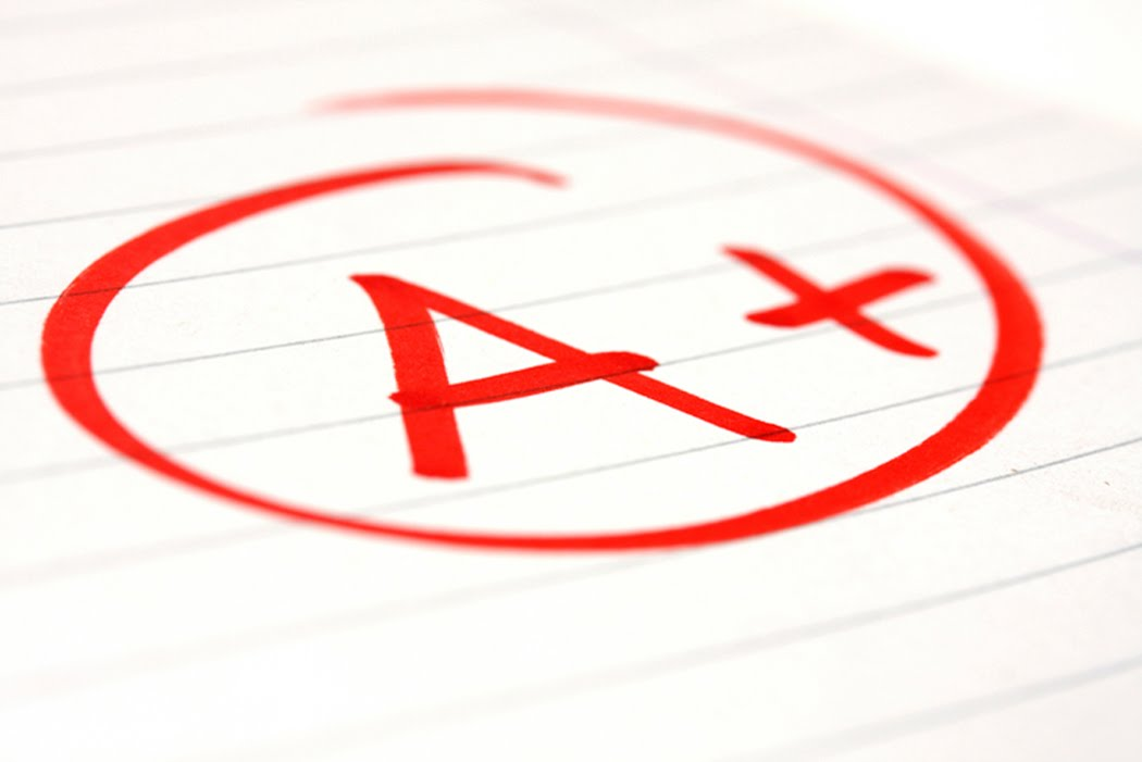 Good Grades red letter A