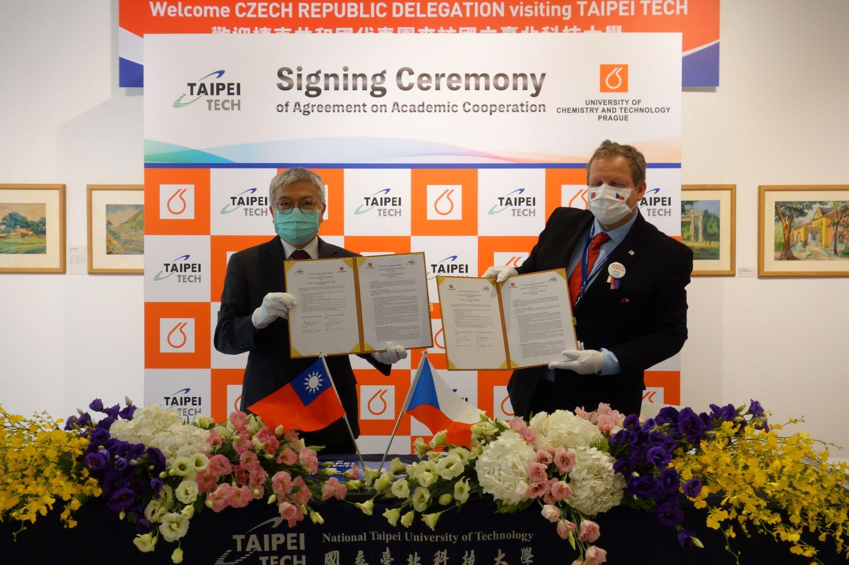 Podpis memoranda o spolupráci VSCHT NTUT 2