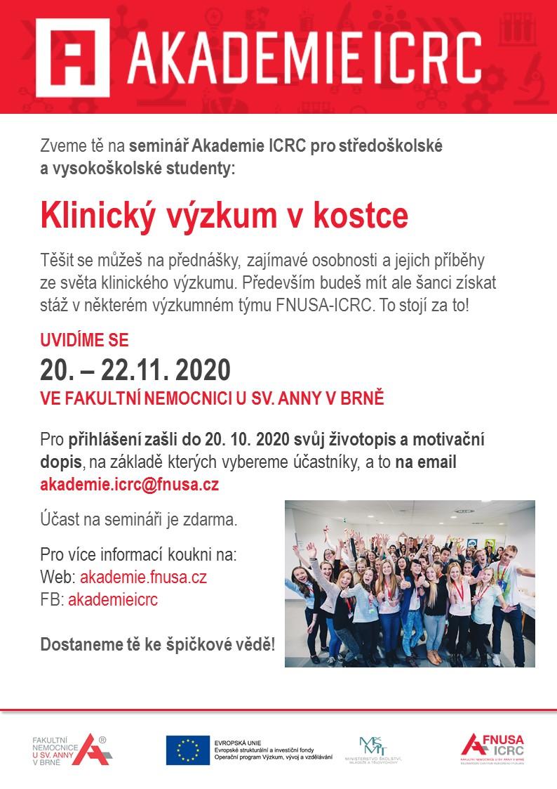Pozvanka na seminar Akademie ICRC 2020
